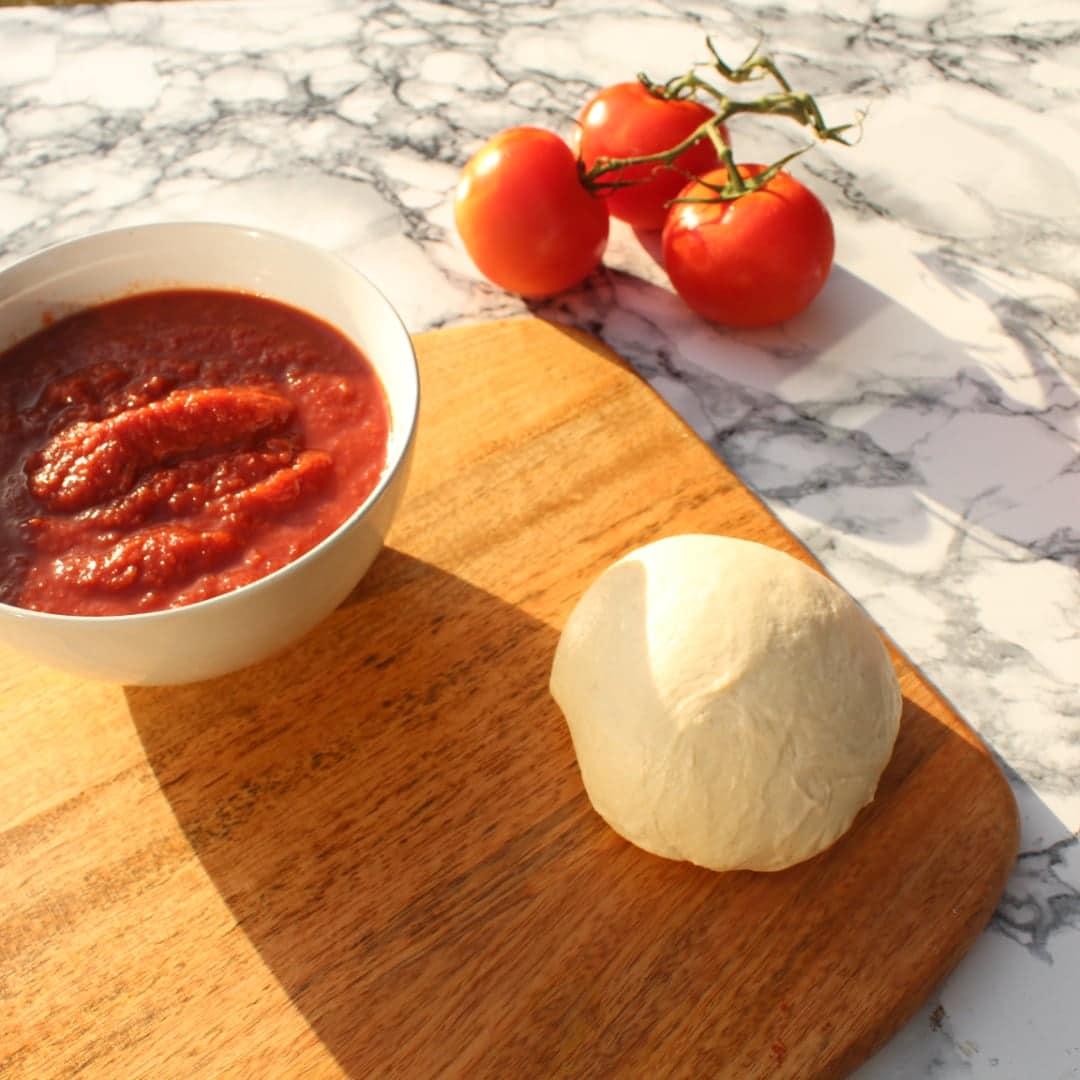 Pizza Dough Balls and Neapolitan Pizza Tomato Sauce