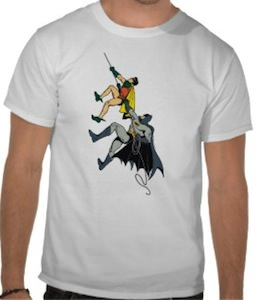 Batman And Robing Climbing Up t-shirt