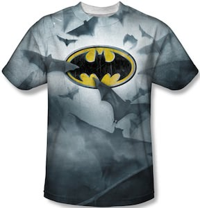 Batman Logo And Flying Bats
