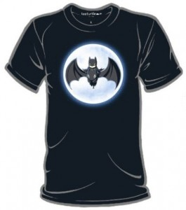 Batman Ridning Toothless Glow In the Dark T-Shirt
