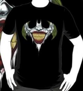 Joker Face Inside Bat Symbol T-Shirt