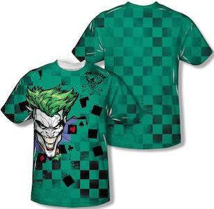 The Joker Green Check Pattern T-Shirt