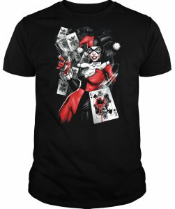 Harley Quinn Bullet In Batman Card T-Shirt
