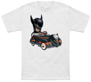 Batman In A Little Car T-Shirt