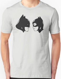 The Heads Of Batman And Catwoman T-Shirt