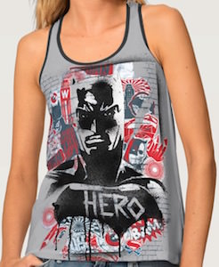 Spray painted Hero Batman Tank Top