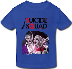 Kids Suicide Squad T-Shirt With The Joker And Harley Quinn