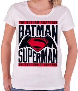 Women's Pink Batman V Superman Logo T-Shirt