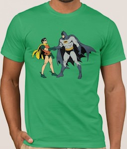Batman And Robin Handshake T-Shirt