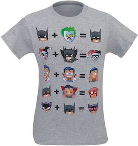 Batman And Friends Math Emoji T-Shirt