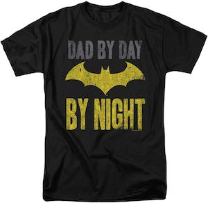 Dad By Day Batman By Night T-Shirt