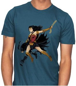Wonder Woman Saves Batman T-Shirt