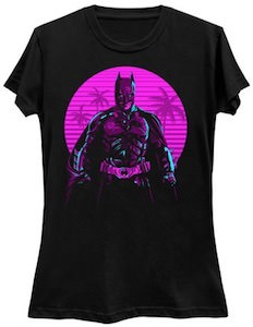 Purple Glow Batman T-Shirt