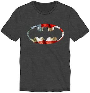 Batman Logo And The US Flag T-Shirt