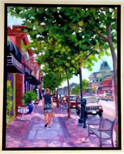 Strolling Asbury Avenue by Rae Jaffe
