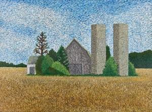 Delaware Barn By Christine O'Brien