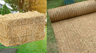 Straw bales and straw blankets