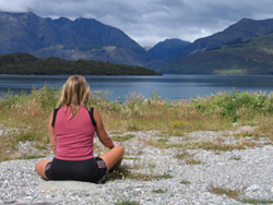 Yoga on our New Zealand bicycle tours - Great Bike Tours