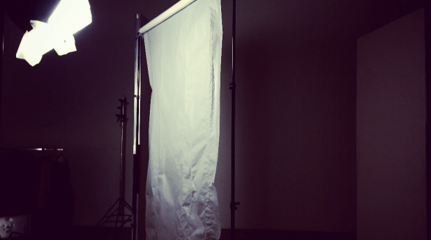 Shooting winter clothes in summer