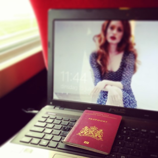 In the train to a screentest