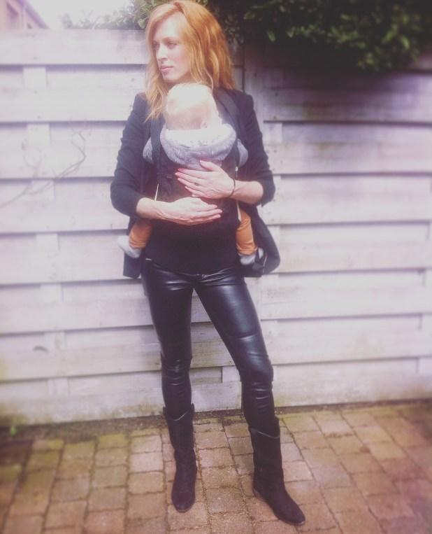 Ergo Baby carrying mom