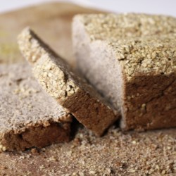 Gluten-free buckwheat-teff-coconut flour bread with chia and sesame seeds