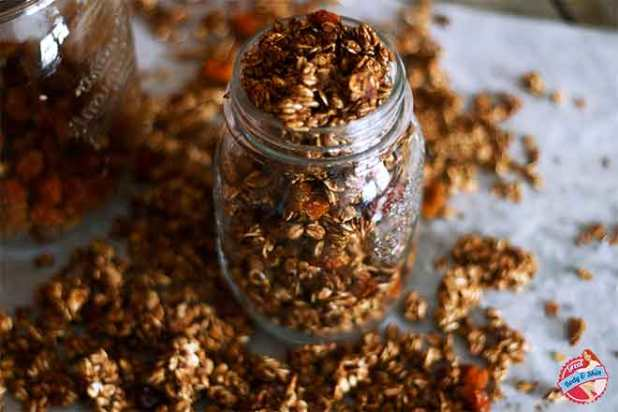 diy recipe crunchy granola gluten free and sugar free