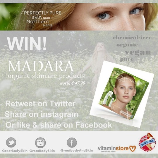 Give-away: organic vegan MADARA skincare products!