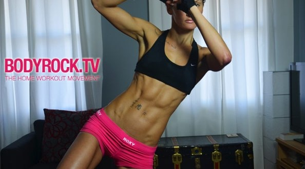 lisa marie, the host of BodyRock.tv, makes women and men sweat!