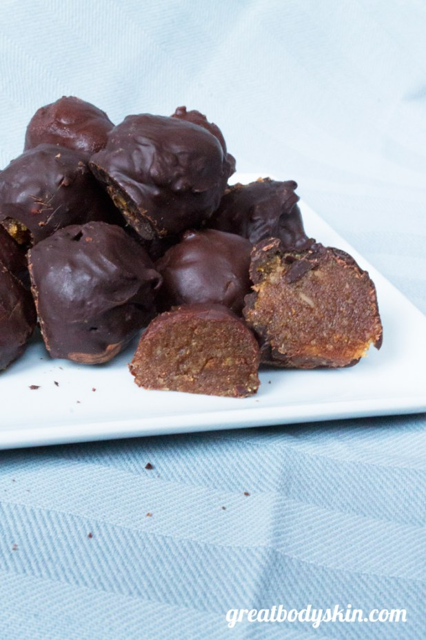 Healthified Chocolate Marzipan Bonbons | Great Body & Skin