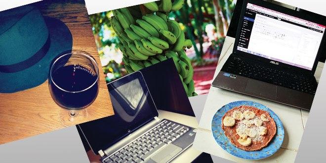 Model food diary part 2: buckwheat banana pancakes, kale juice and red wine