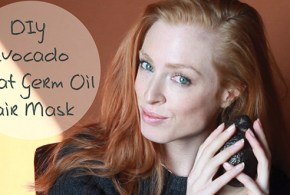 Avocado Wheat Germ Oil Mask for Shiny Hair