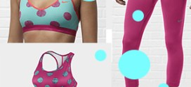 Nike's cute girly pink & dotted collection