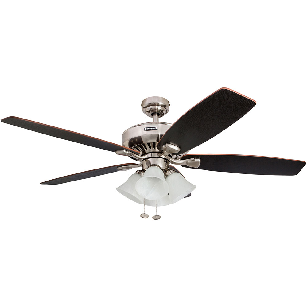 Honeywell Birnham Ceiling Fan, Brushed Nickel Finish, 52