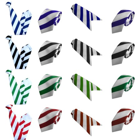 92457ea95c9d Ultra White Striped Ties, Clip On Ties, Ladies Cravats and Skinny Ties – in  4 colours