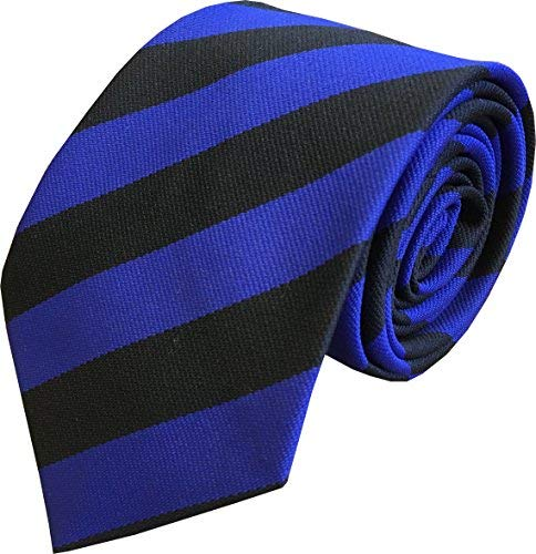 Infant School Size Royal Blue /& Gold Child/'s Elastic Single Stripe School Ties