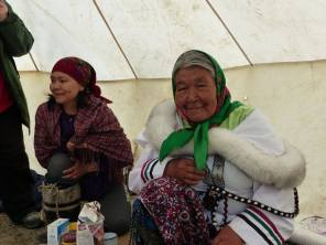 Bannock and tea in tent