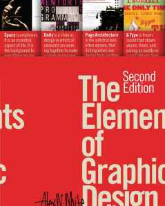 the cover of the elements of graphic design