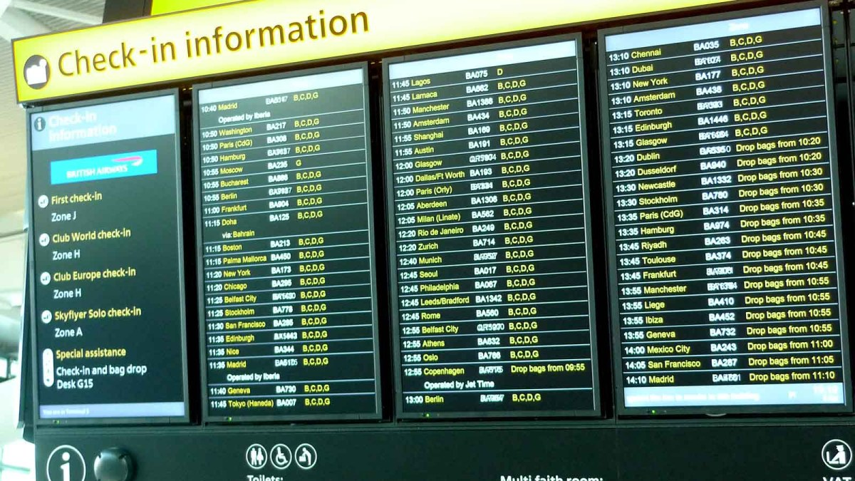 heathrow t5 departures board