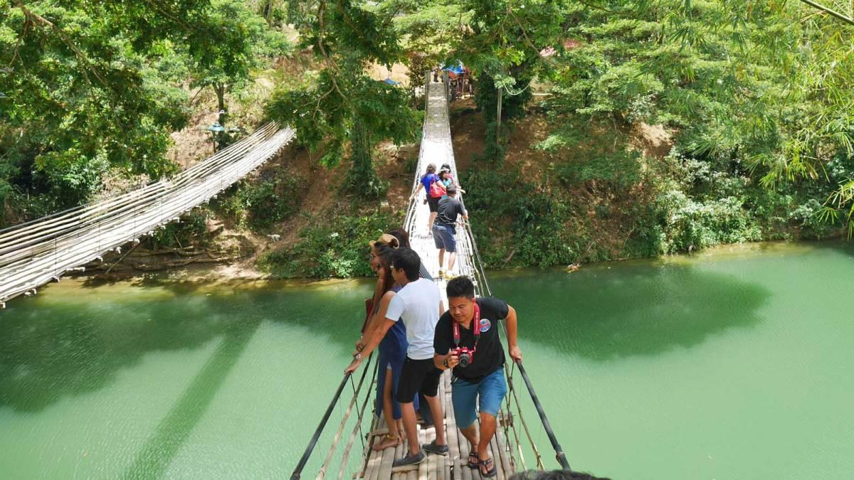 Bohol-bamboo-bridge