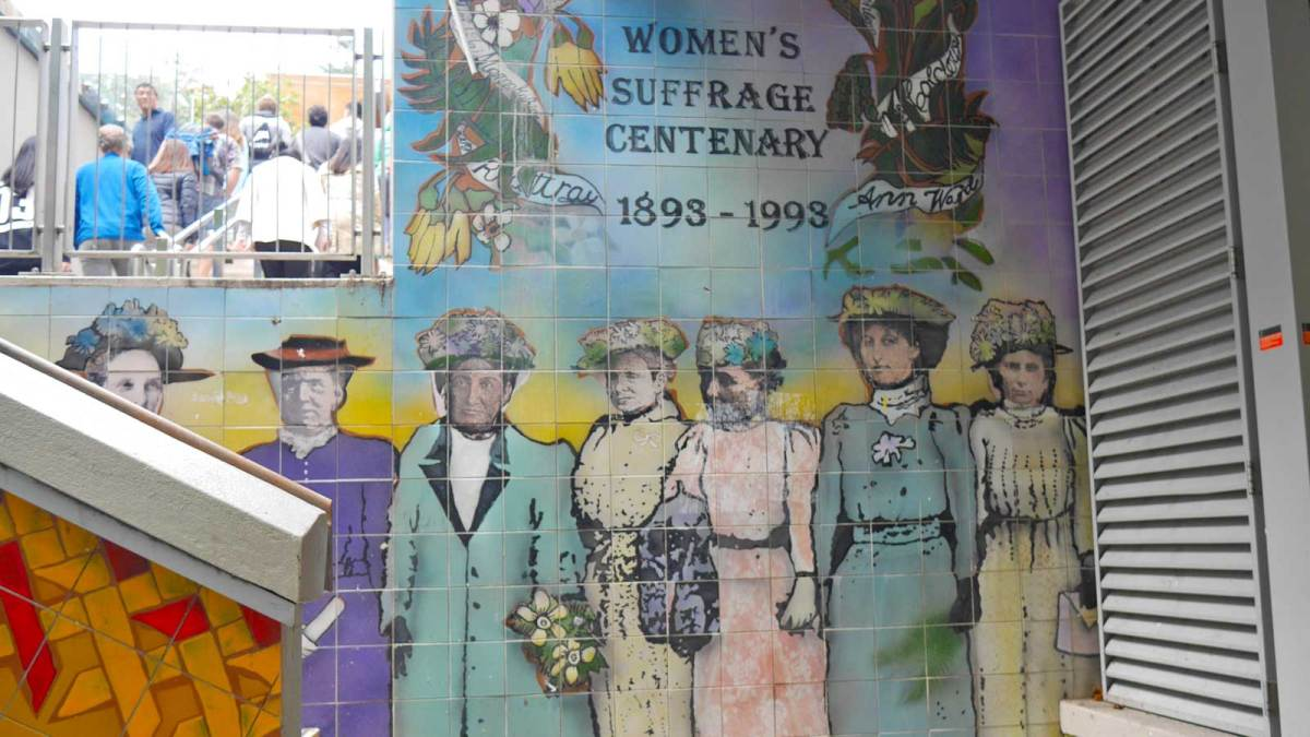 Memorial to New Zealand's Suffragettes