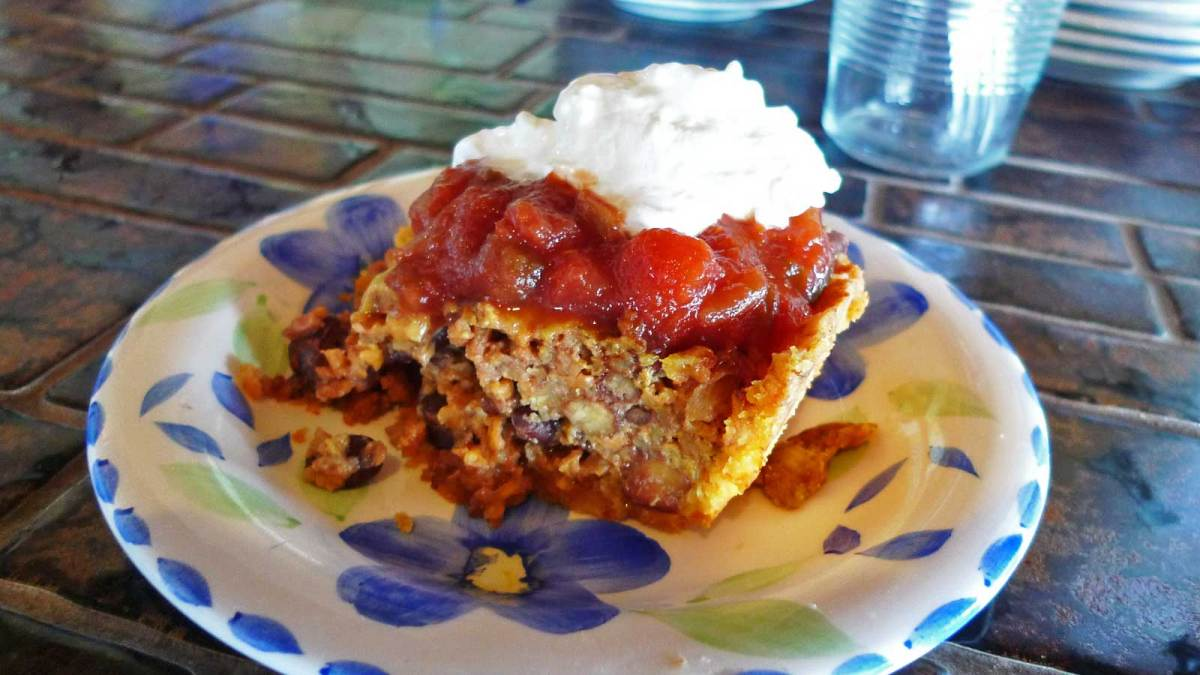 Mexican vegetarian pie