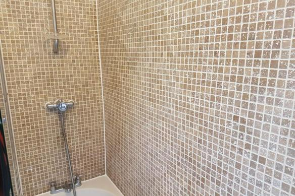 Bath Shower Tile After Refresh Stockport