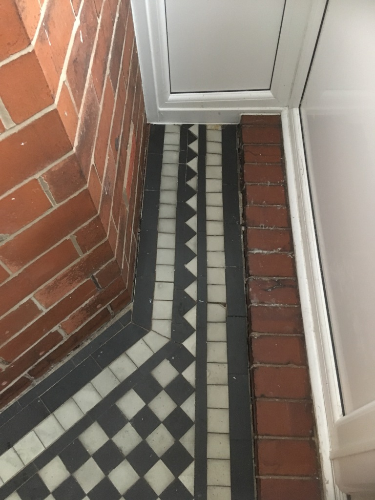 Marble Tiled Victorian Porch Before Restoration Oldham