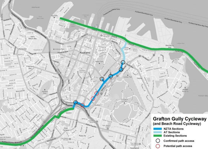 01 Grafton Gully Cycleway Map 1