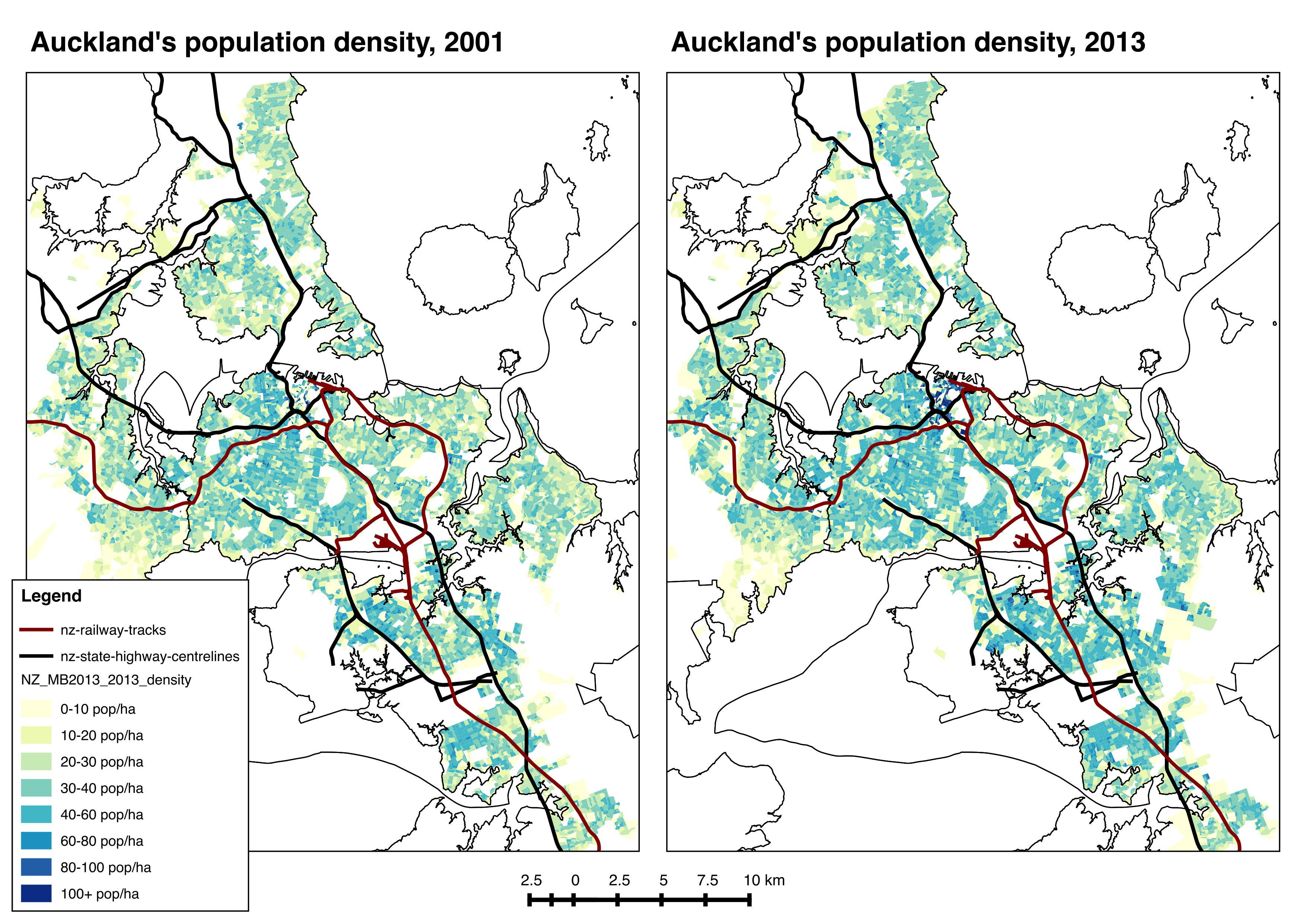 Population Map Of Australia 2013.Population Weighted Densities In New Zealand And Australia Greater
