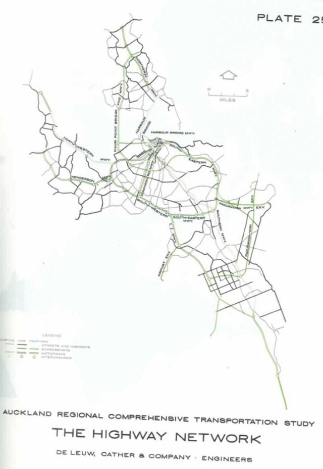 Auckland Motorway Plan 1956
