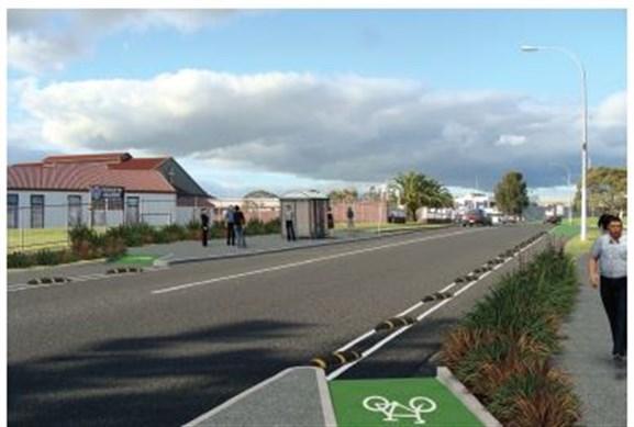 Te-Ara-Mua-Future-Streets-protected cycle lane