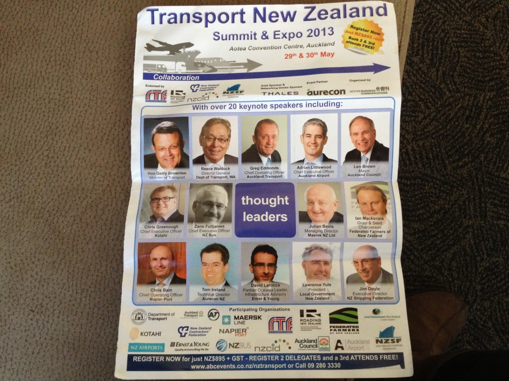 The face of transport thought leadership