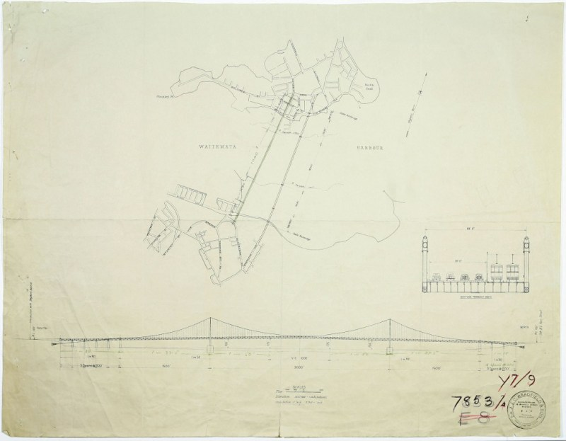 ACC 015 - 7853-004, proposed bridge layout 1930s